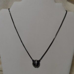 Lia Sophia Black Necklace